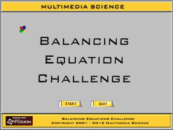 Chemistry - Ballancing Equations Challenge - PC & MAC Flas