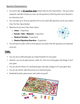 Chemistry Board Game Project