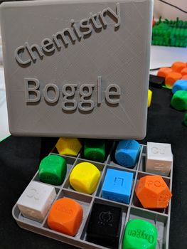Chemistry Boggle for naming binary compoun3D Printer .stl files and answer sheet