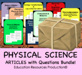 Chemistry Bundle: states of matter, compounds, chemical properties, elements