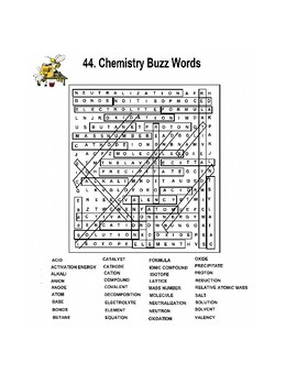 Chemistry Buzz Word Search