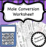 Mole Conversion Calculations Worksheet