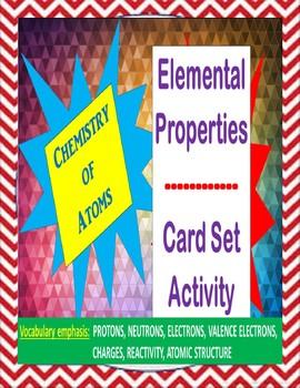 Chemistry Card Set Activity