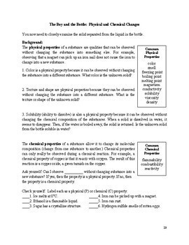 "Chemistry Case Files - A Problem-Based ""Properties of Matter"" Unit (PBL)"
