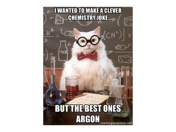 Chemistry Cat Jokes for Physical Science