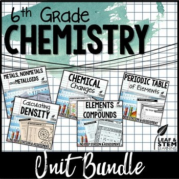 Chemistry Centers Games and Assessments {Texas TEKS}