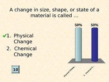 Chemistry Changes Clicker Review Game
