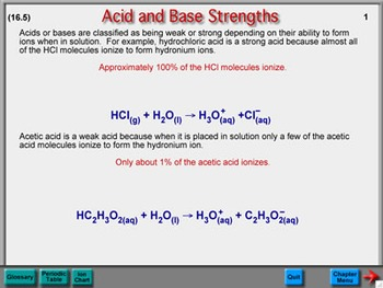 Chemistry Chapter 16: Acids and Bases