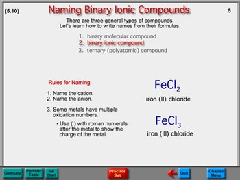 Chemistry Chapter 5: Chemical Nomenclature