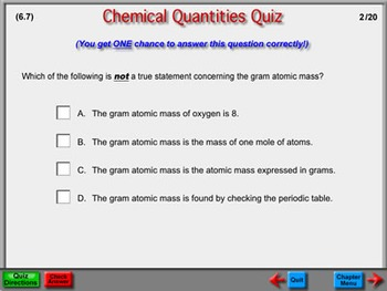 Chemistry Chapter 6: Chemical Quantities