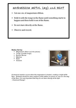 Chemistry - Chemical and Physical Change