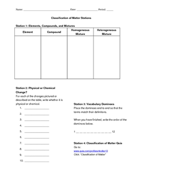 Classification Of Matter Teaching Resources Teachers Pay Teachers