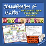 Chemistry: Classifying Matter Doodle Notes