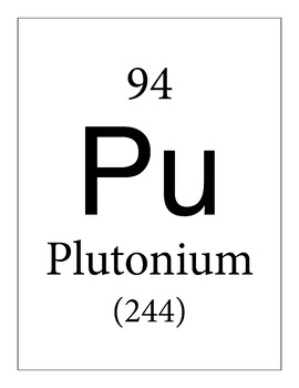 Chemistry Clip Art: 118 Periodic Table Tiles (whole number atomic mass)