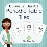 Chemistry Clip Art: 118 Periodic Table Tiles (whole number