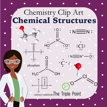 Chemistry Clip Art: Chemical Structures for Common Compounds, Ions, and Elements