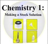 Chemistry Clip Art - Making a Stock Solution (flask, balan