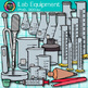 Chemistry Clip Art {Science Lab Equipment & Tools for Measurement & Safety}