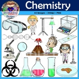 Science Lab Clip Art (Chemistry, Scientist, Biohazard, Volcano)