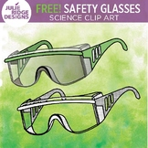 FREE! Safety Glasses Clip Art by Julie Ridge #tptclipartistscollab