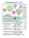 Balloons - Color by Number - Combined Gas Laws