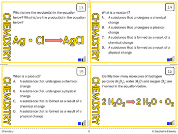Chemistry: Compounds, Bonding & Reactions Task Cards (Differentiated and Tiered)