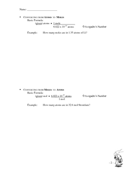 Chemistry Conversions (Avogrado's Number)