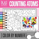 Counting Atoms- Chemistry Color by Number Ice Cream- No Prep! Print and Go!