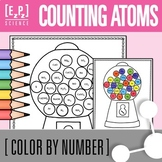 Counting Atoms Practice- Chemistry Color By Number Gumball Machine