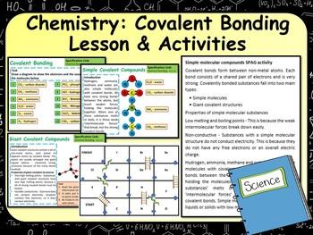 Chemistry:  Covalent Bonding Lesson & Activities