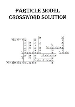 Chemistry Crossword Puzzle: Atomic Structure (Includes answer key)
