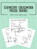 Chemistry Crossword Puzzle Bundle
