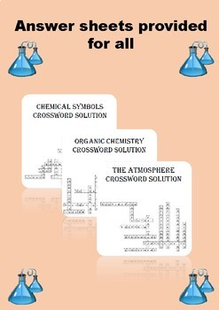Chemistry Crossword Puzzle Bundle. Includes 10 different crosswords!