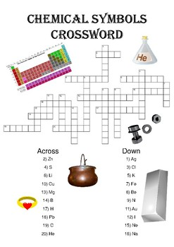 Chemical symbols teaching resources teachers pay teachers chemistry crossword puzzle chemical symbols includes answer key urtaz Image collections