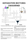 Chemistry Crossword Puzzle: Separating Mixtures (Includes