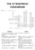Chemistry Crossword Puzzle: The atmosphere (Includes answer key)