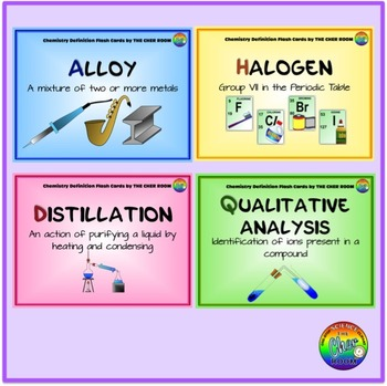Chemistry Definition Flash Cards (Chemistry Vocabulary)