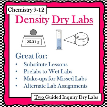 Chemistry Density Dry Labs (Guided Inquiry)