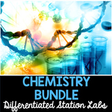 Chemistry - Differentiated Science Stations Bundle - 9 Stu