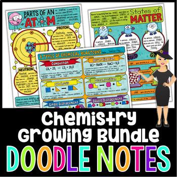 Chemistry Doodle Notes Growing Bundle