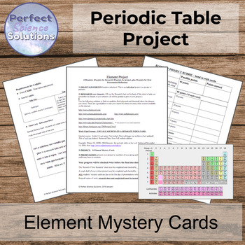 Chemistry: Element Mystery Cards PROJECT