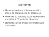 Chemistry Elements - Introduction, Metals, Non-Metals, Typ