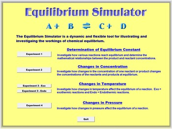Chemistry - Equilibrium Simulator and Experiment Handouts
