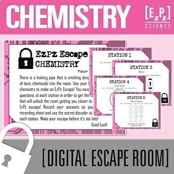 Chemistry Science Escape Room