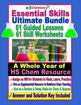 Chemistry Essential Skills 61 Lessons PLUS 61 Worksheets Ultimate Bundle