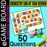 Chemistry Final Exam REVIEW GAME BOARD ~50 Digital Questio