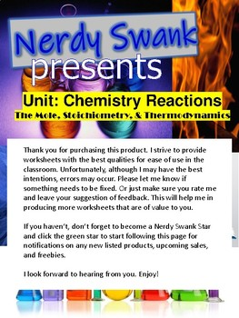 Chemistry Finding the Formula Mass Worksheet 12 Questions with Answer Key