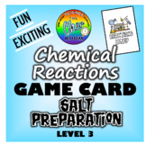 Chemistry Game Cards - Salts Preparation