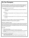 Chemistry - Gas Law student inquiry investigation - design