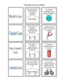 Chemistry Gas Laws Matching Puzzle